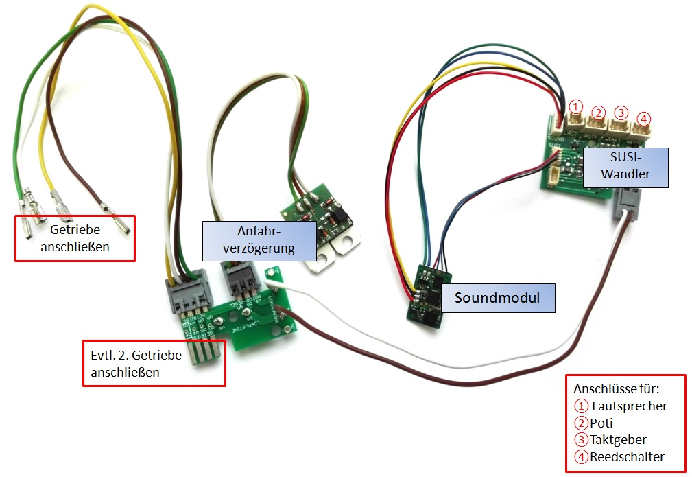 ML-Train 80609753 Analog Sound-Set IntelliSound Modul europäisch Diessellok NEU